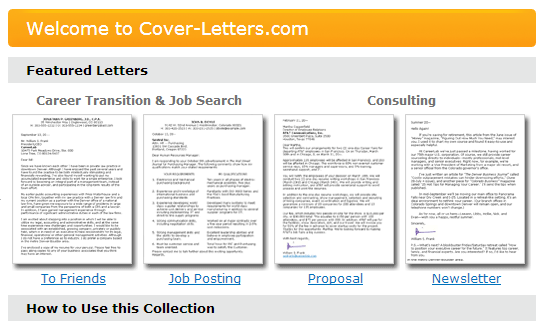 Free Professional Sample Cover Letters for Job-Seekers