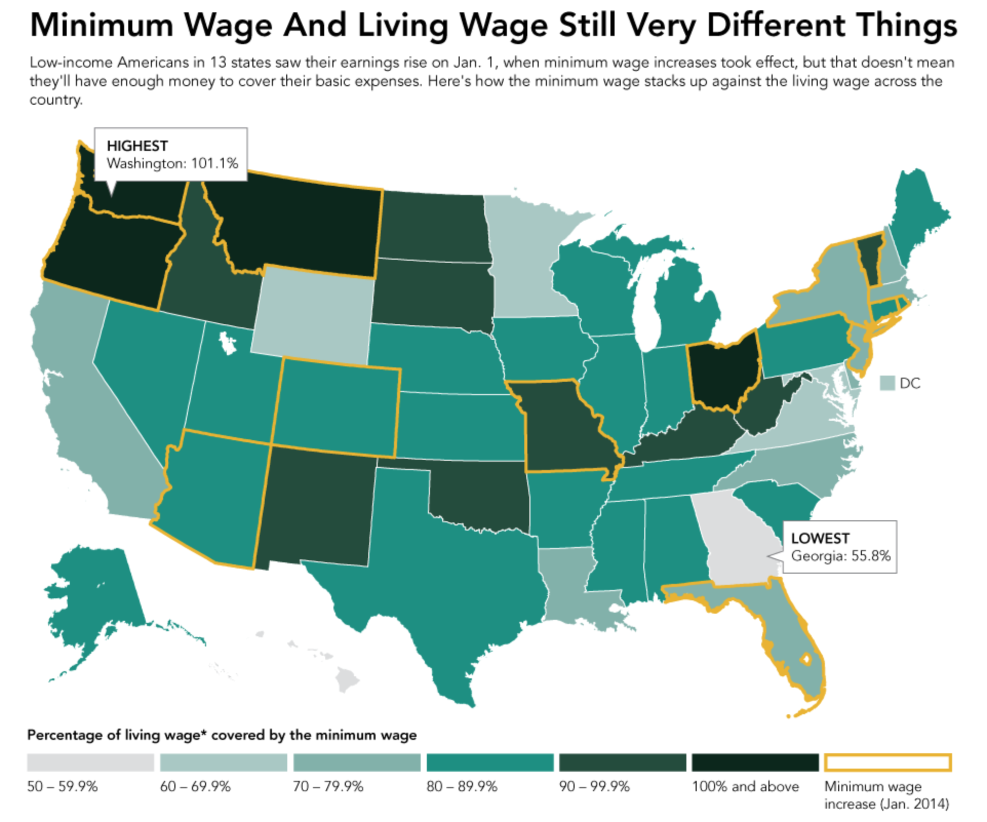 minimum wage in the united states More than 45 million workers in 18 states got a raise on jan 1 as new minimum wage laws took effect.